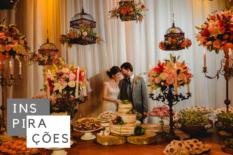 Mesas de Bolo e Doces: Mais De 100 Ideias Incríveis Para Decorar Seu Casamento