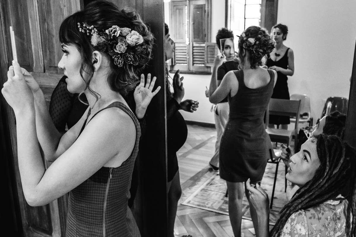 noiva maquiando fotografo de casamentos bh