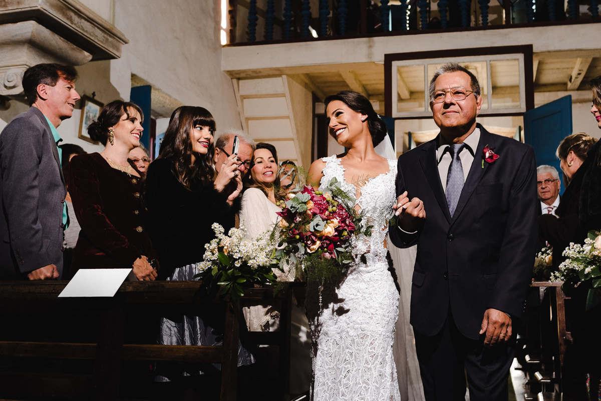 como fotografar a entrada da noiva em contra luz